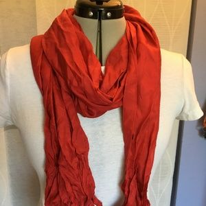 Crimson red poly blend scarf